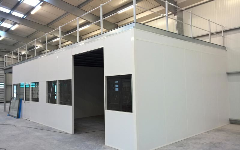 Mezzanine industrielle, plateforme métallique sur mesure